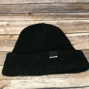 Dakine Stocking Cap Winter Knit Ski Hat Black Warm
